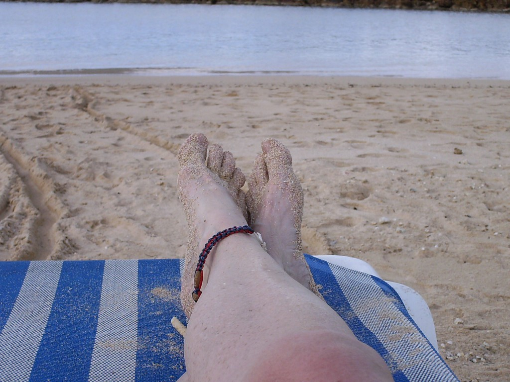 Beach Lounging Caribbean Feet