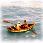 Cribbean-Island-Boat-Men-Water-Color-Painting
