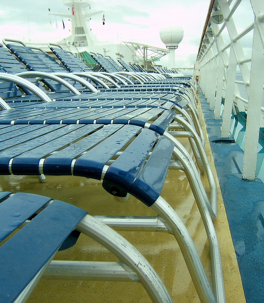 Wet Cruise Ship Deck Lounges