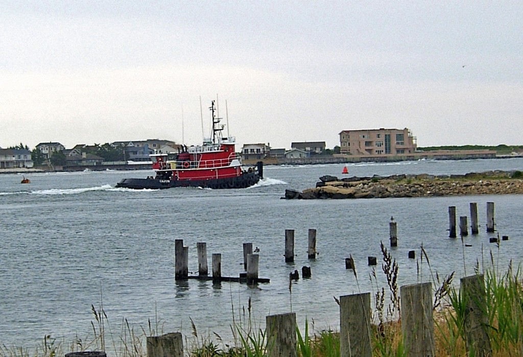 Red Tug Close To Shore