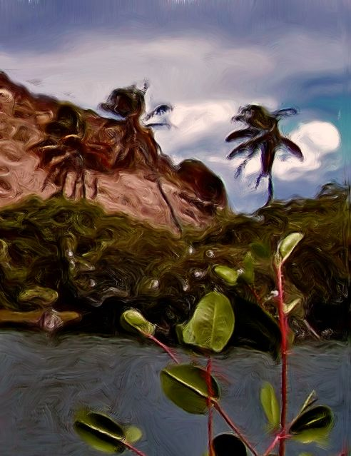 St Martin Palm Trees Painting