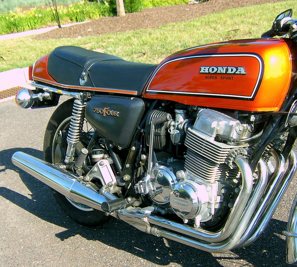 77 Honda 750 Four Super Sport Side View