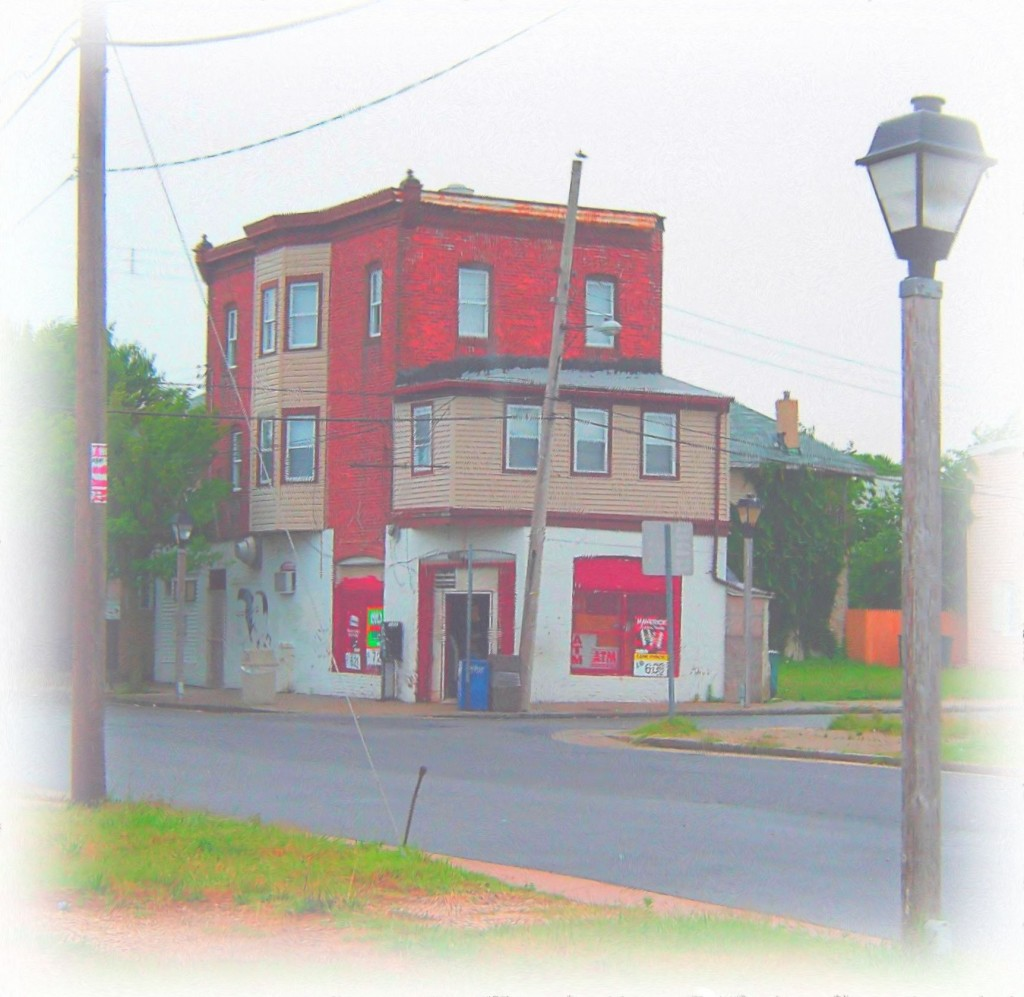 Atlantic City Corner Store Water Color Painting