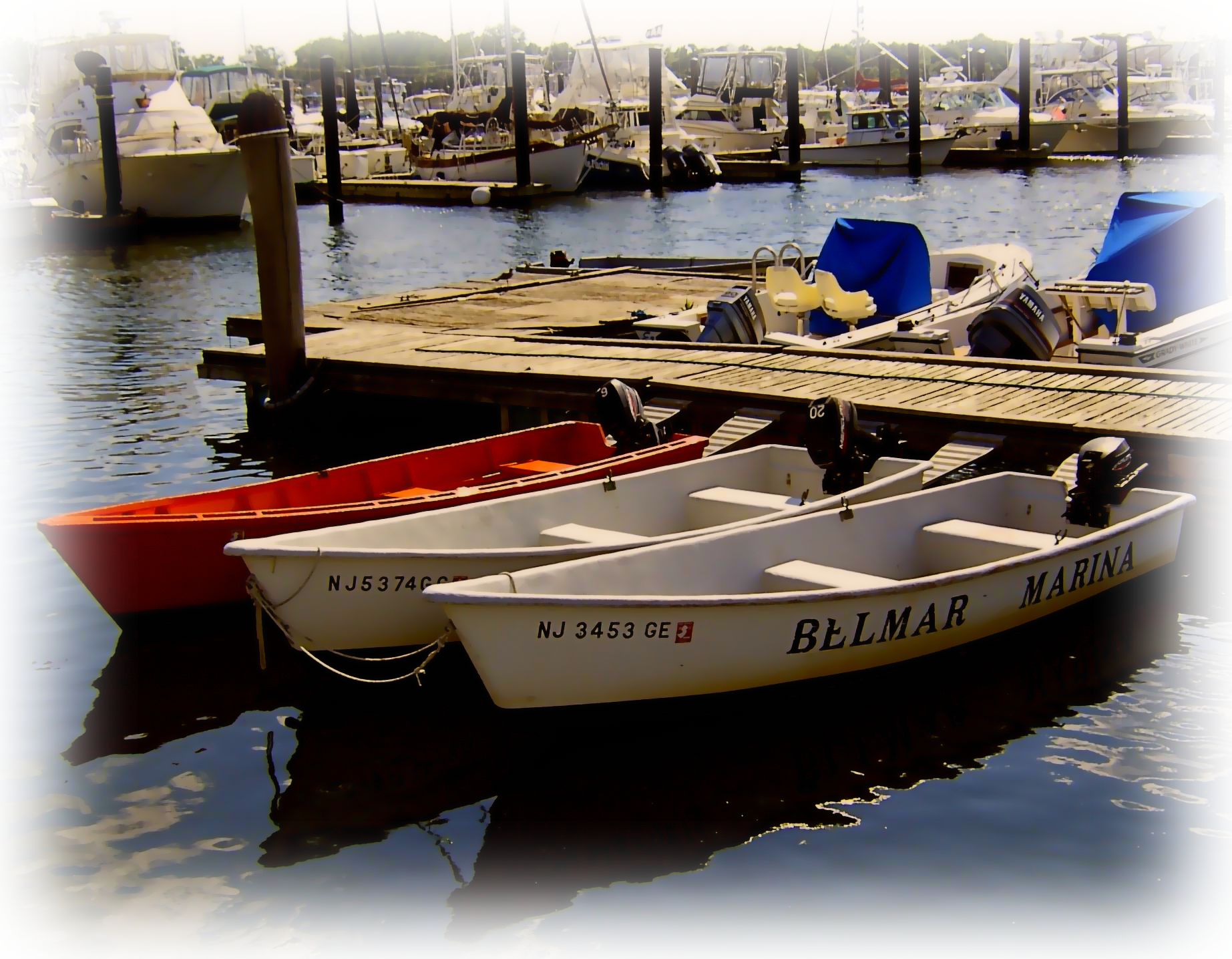 Belmar marina fishing boat rentals painting love 39 s photo for Fishing boat rental