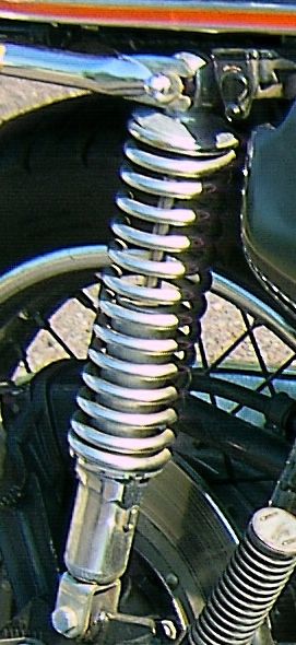 Chrome Rear Shock 77 Honda