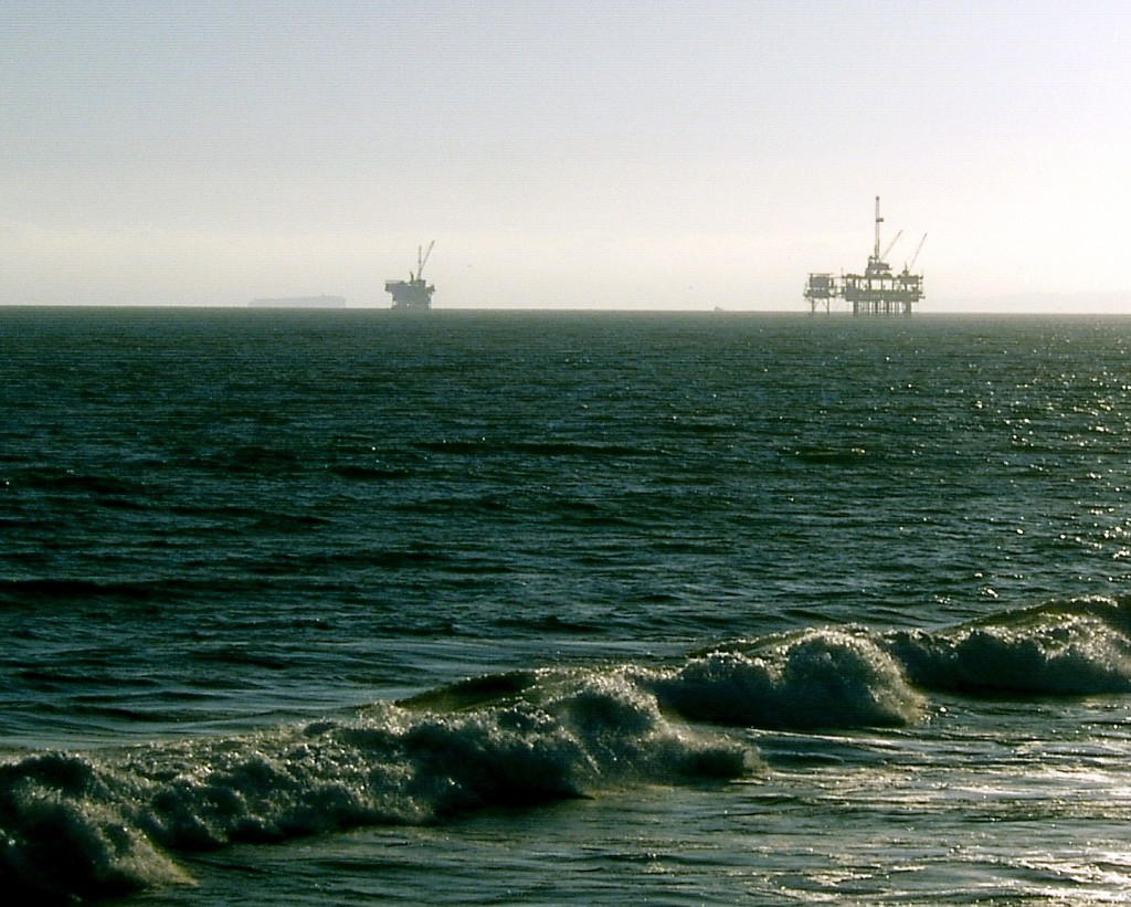 California Oil Rigs Off Huntington Beach