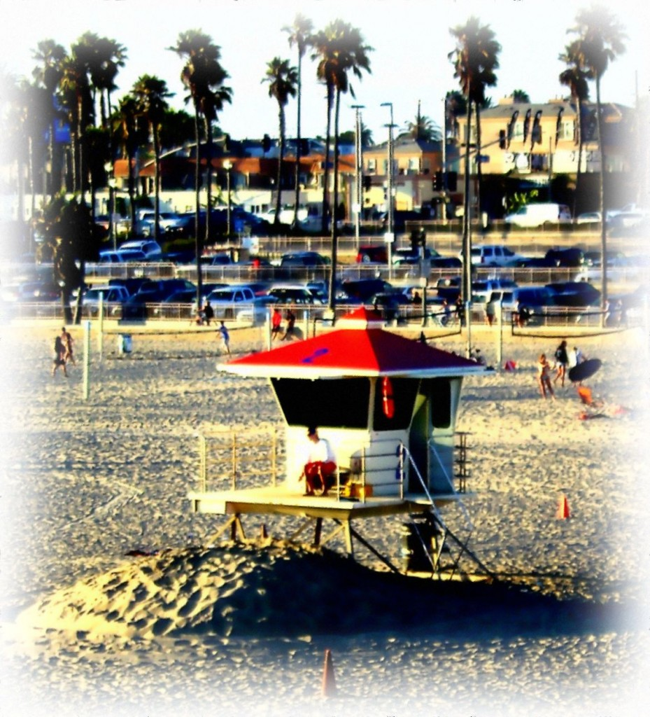 Huntington Beach Life Guard Station Painting
