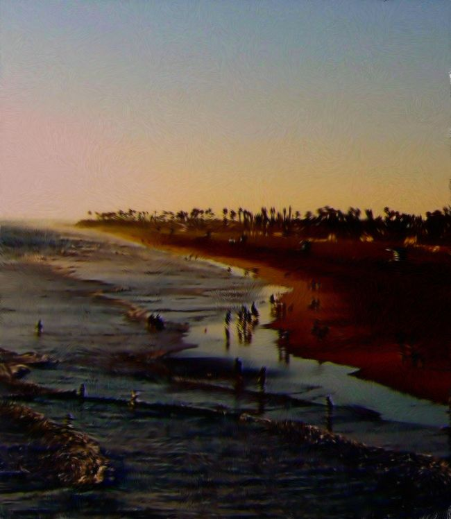 Late Afternoon At Huntington Beach California Painting