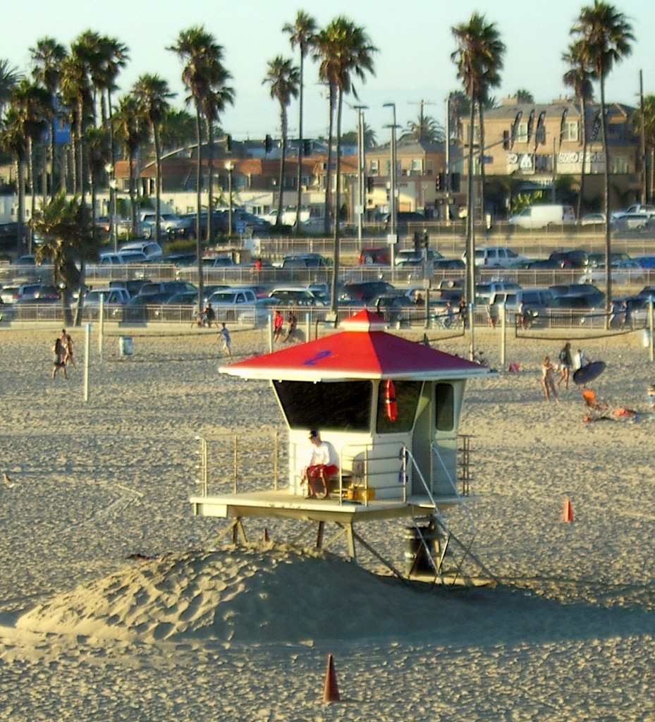 Life Guard At Huntington Beach