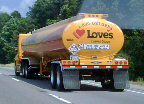 Loves Travel Stop Gas Truck