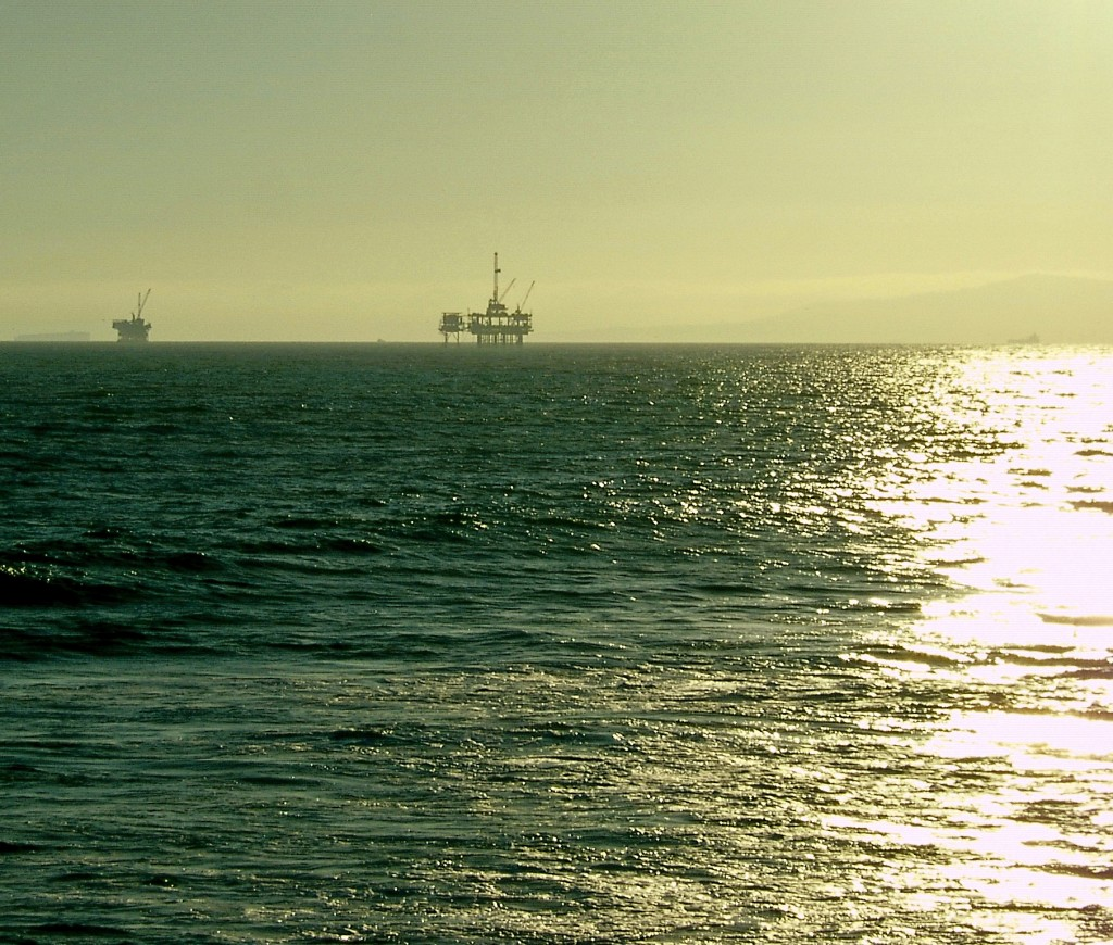 Oil Rigs Off Huntington Beach