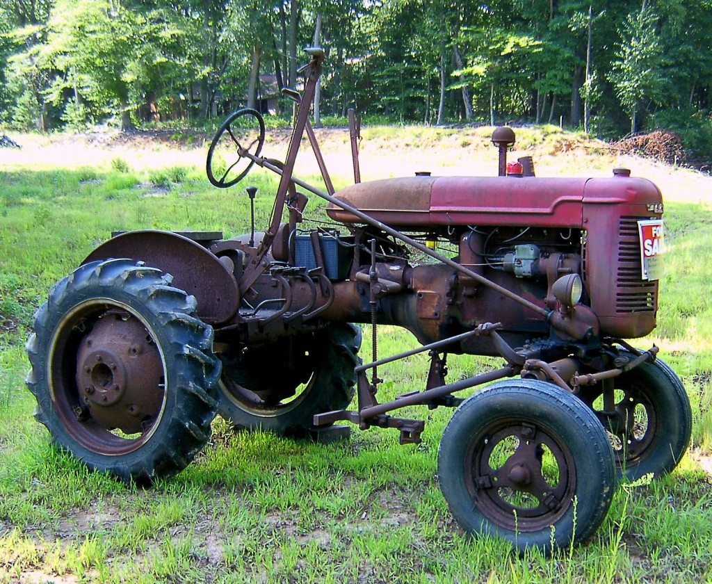 Old Rusted Antique Tractor For Sale