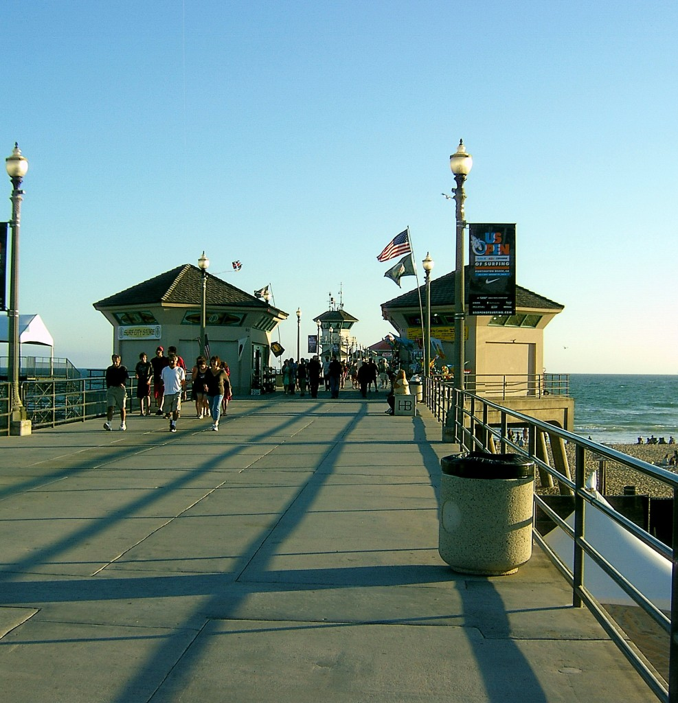 Pier At Huntington Beach California