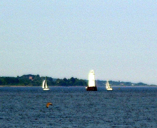 Sail Boats Light House On Raritan Bay Painting