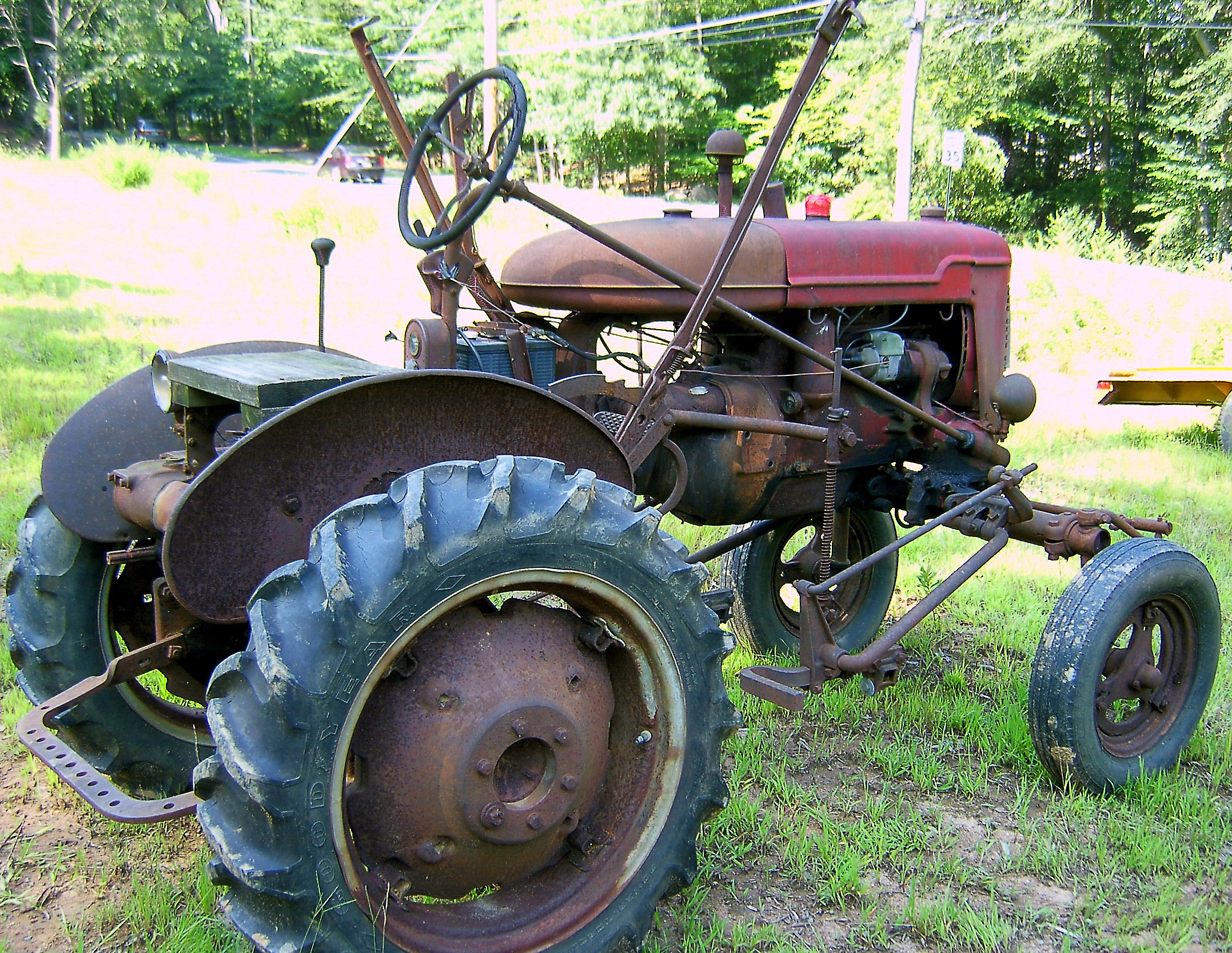 Antique Tractors Equipment : Side view of red antique tractor love s photo album