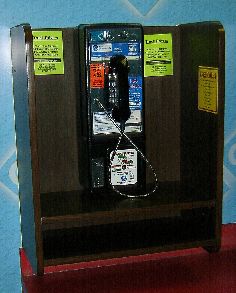 Truck Stop Pay Phone