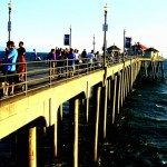 Weekend On Huntington Beach Pier Painting