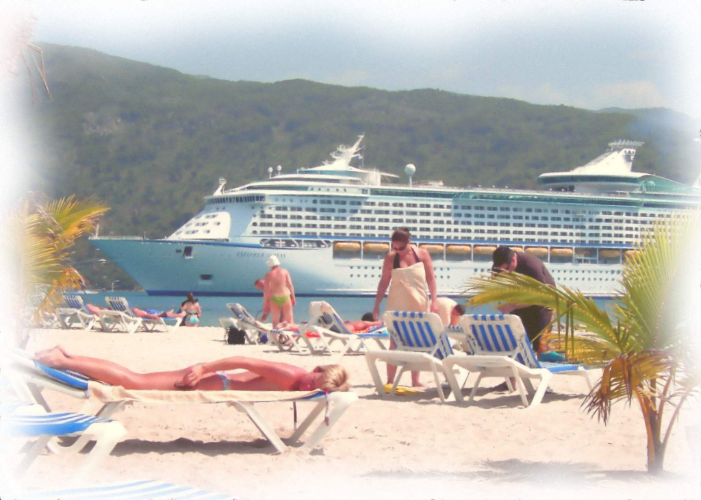 Beach Day In Labadee Haiti Water Color Painting