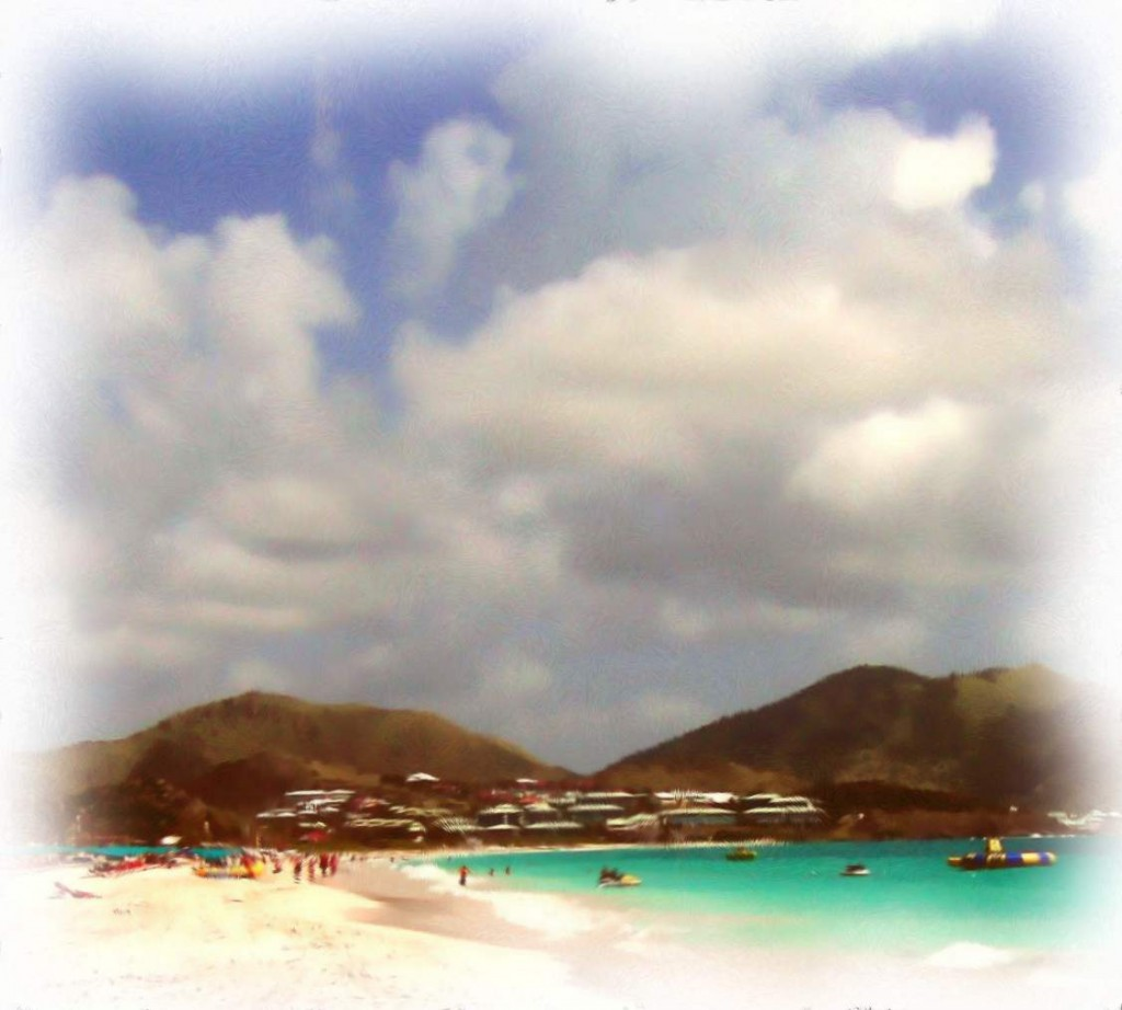 Beach Day In St Martin On Orient Beach Painting