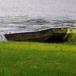 Beached Roat Boat At Timber Lake New Jersey