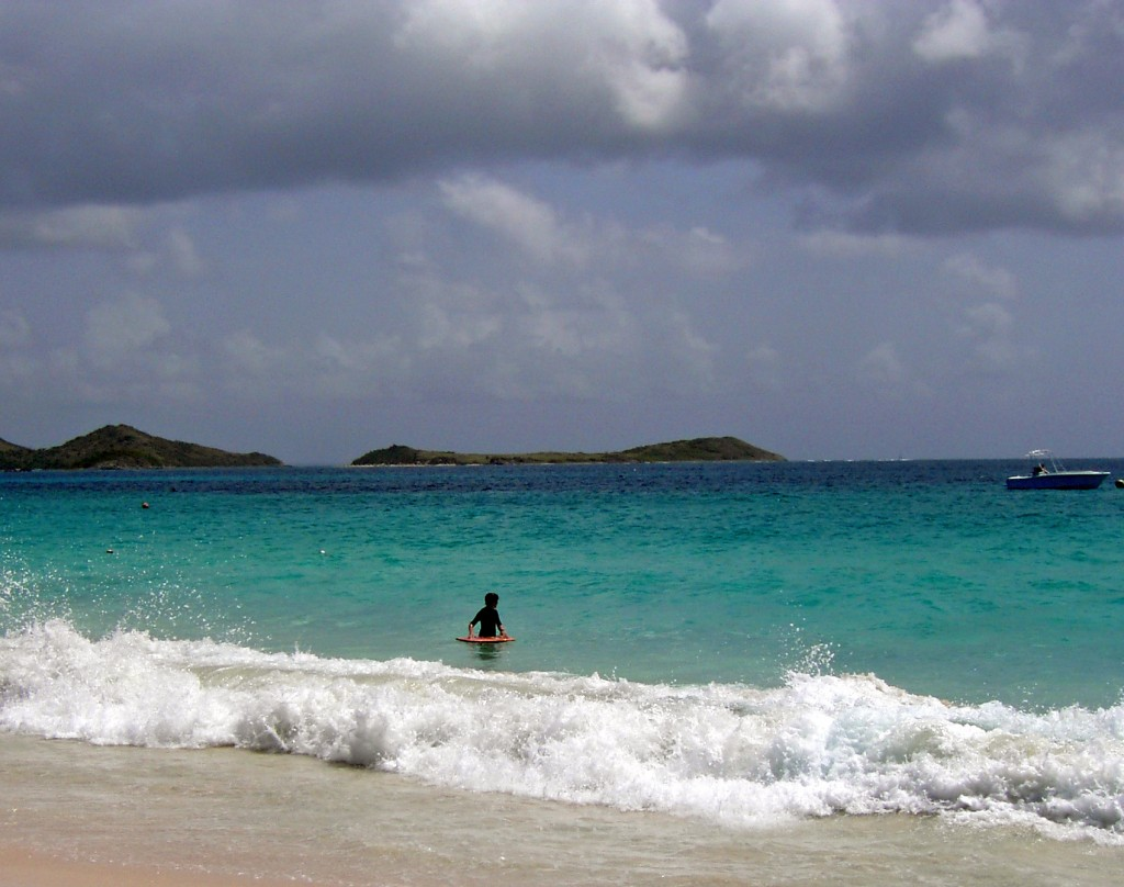 Boating & Boarding On Orient Beach St Martin