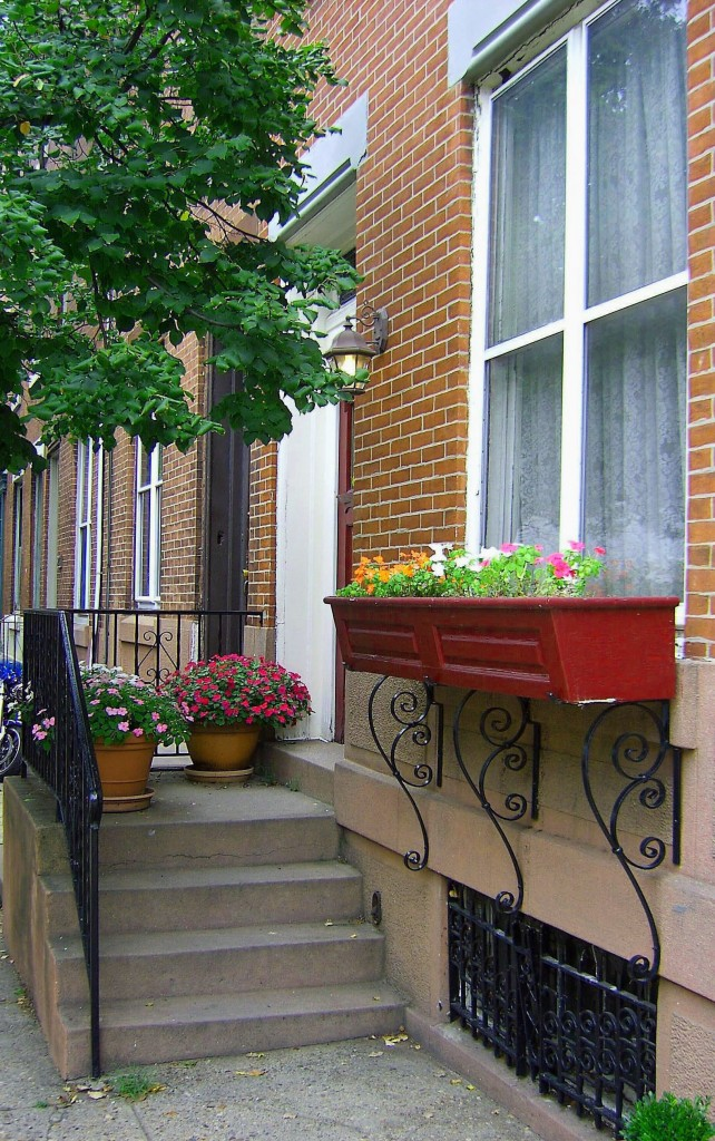 Colorful City Step Planters & Window Box