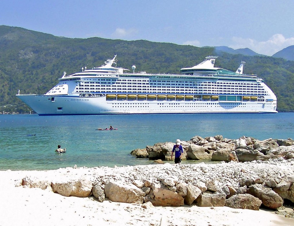 Cruise Ship Anchored Off Haiti