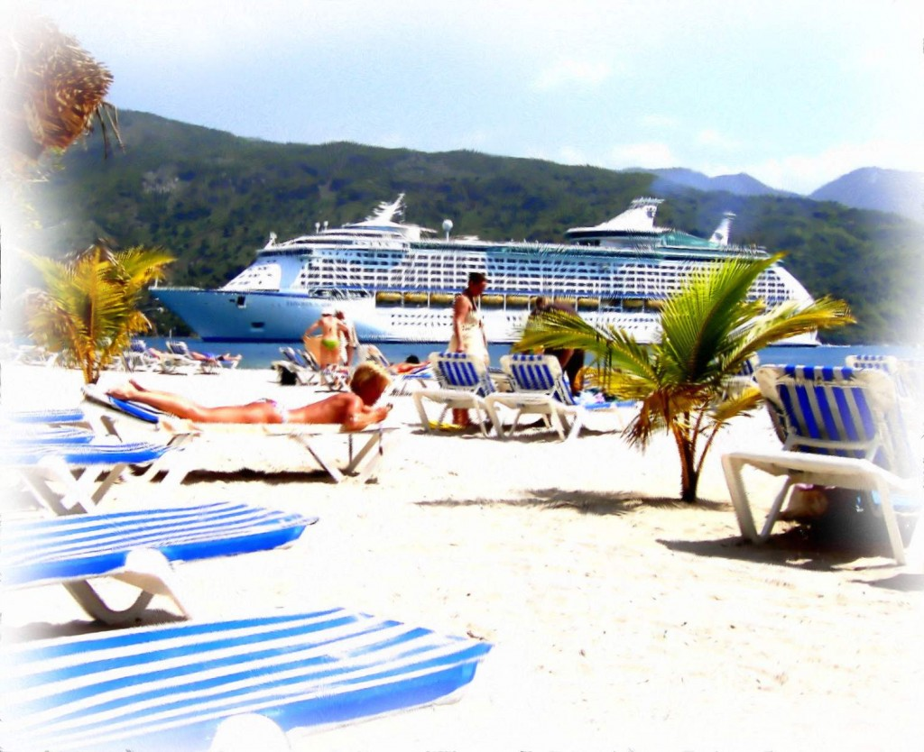 Cruise Ship Beach Day Excursion In Labadee Haiti Painting