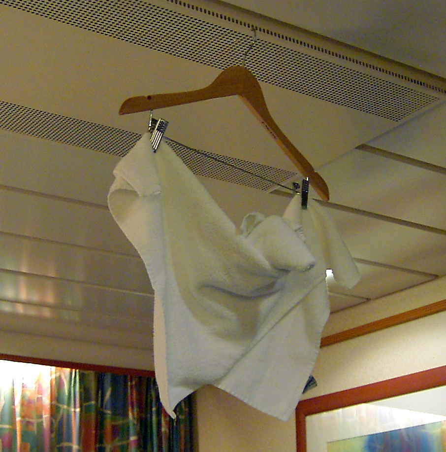 Cruise Ship Cabin Towel Art