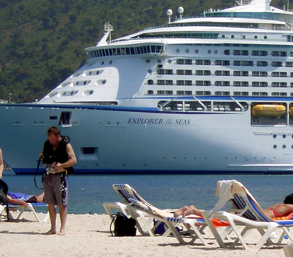 Explorer Of The Seas Anchored In Labadee Haiti