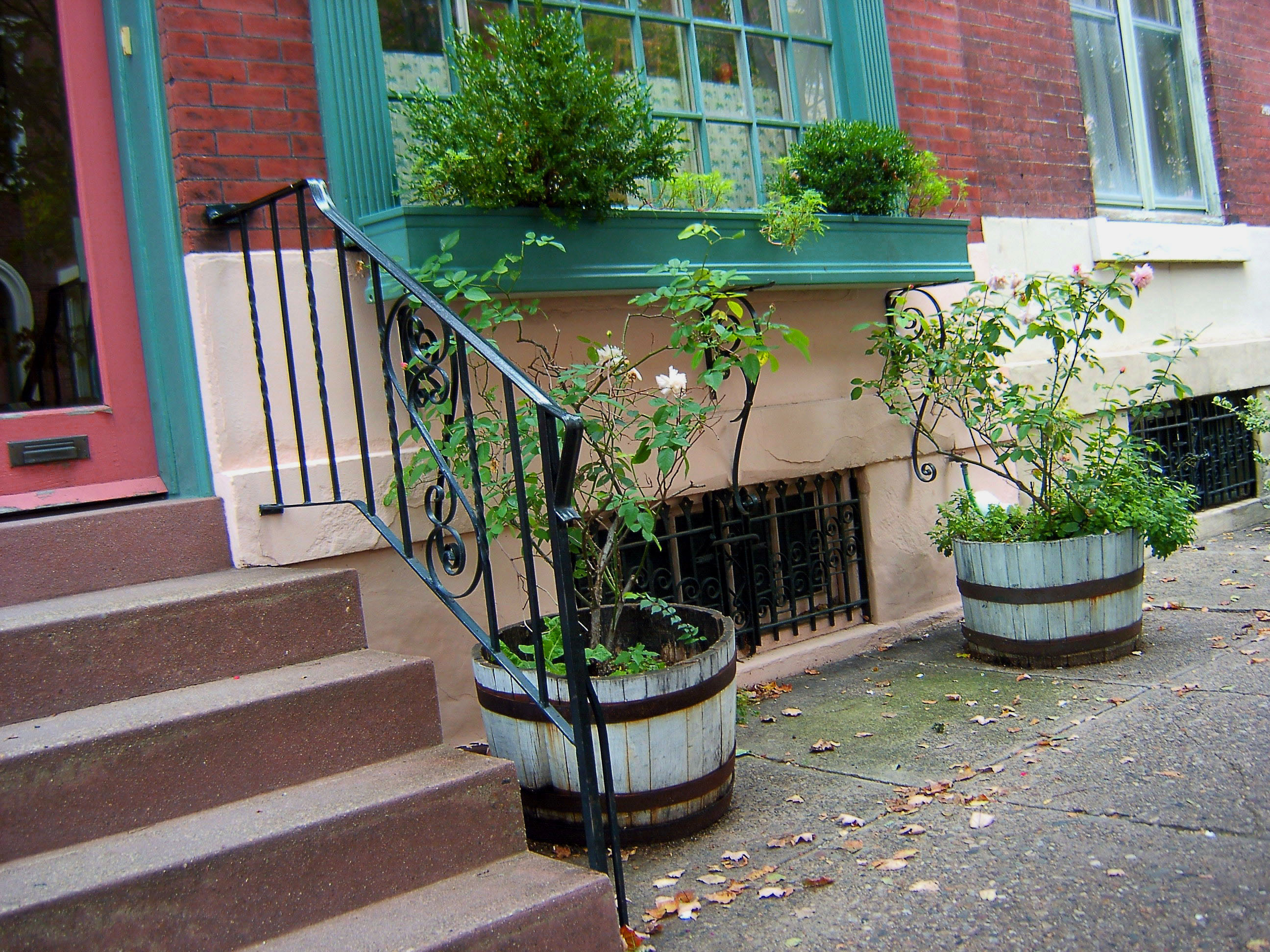 Large Urban Window Box Two Barrel Planters