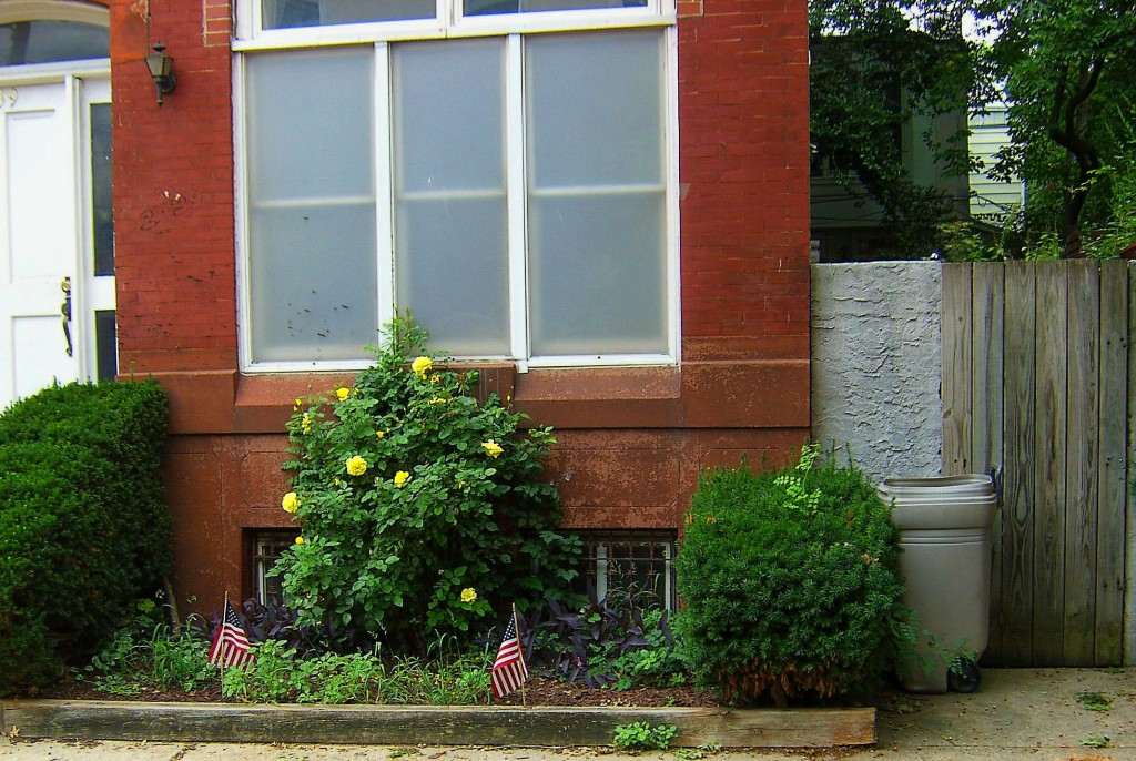 Older Philadelphia Row Home With Landscaped Front & Plastic Windows