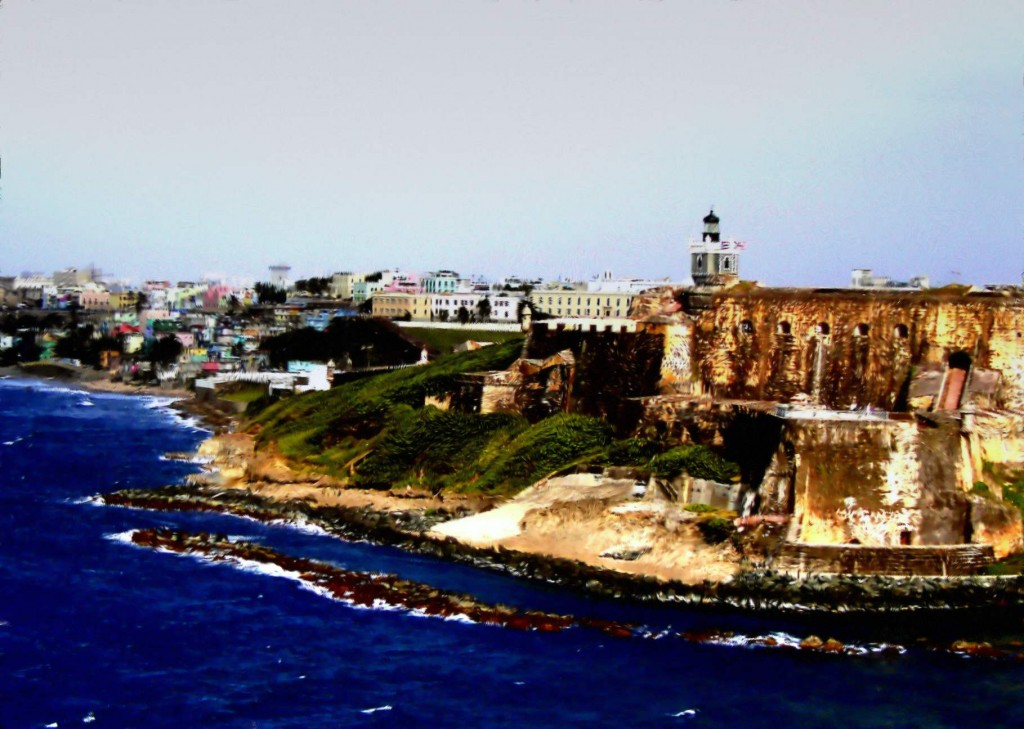 Painting Of Fort San Cristobal & Old San Juan