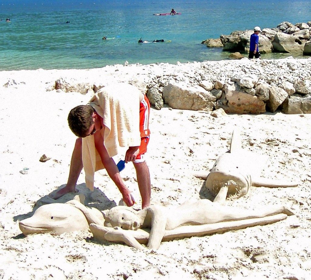 Shark Sand Sculpture In Labadee Haiti