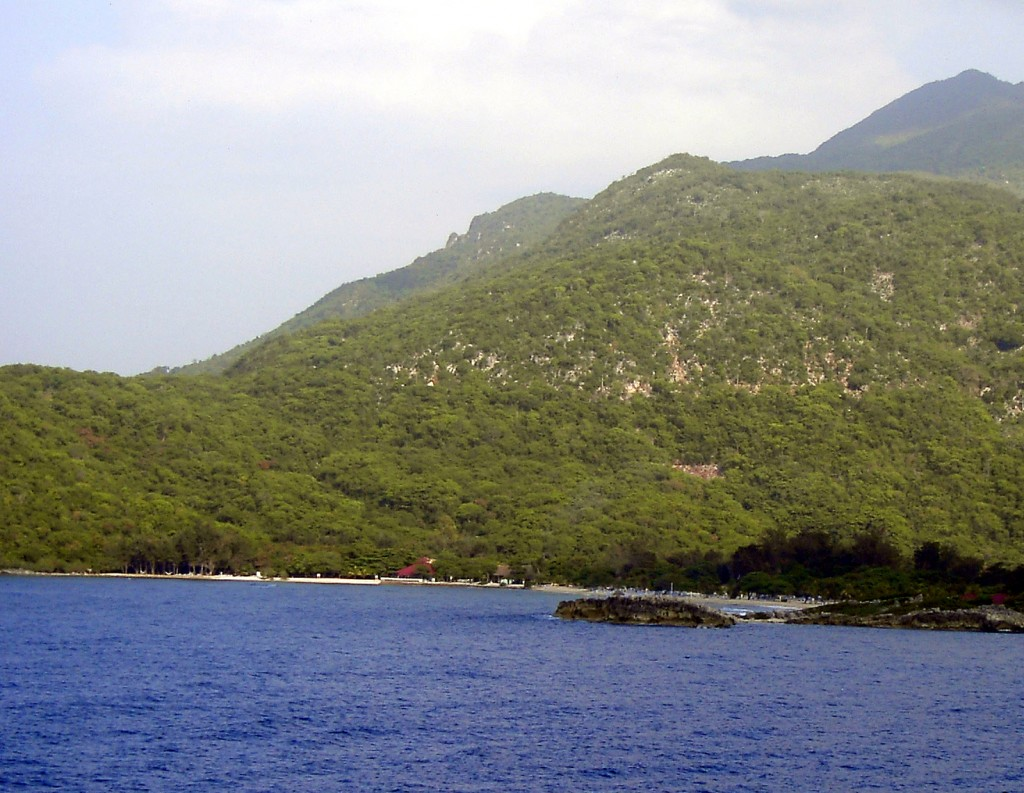 Shoreline At Labadee Haiti