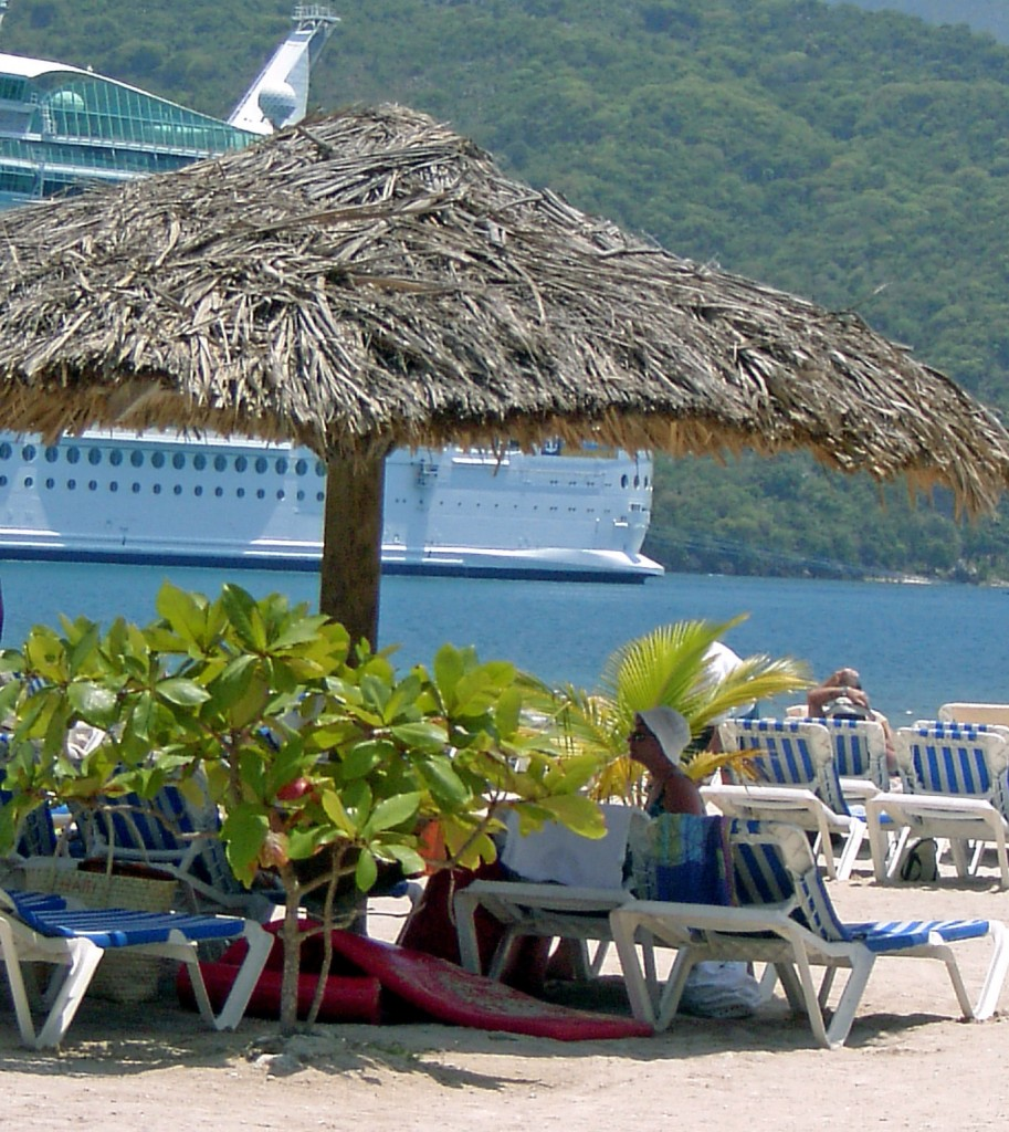 Straw Beach Umbrella In Labadee Haiti