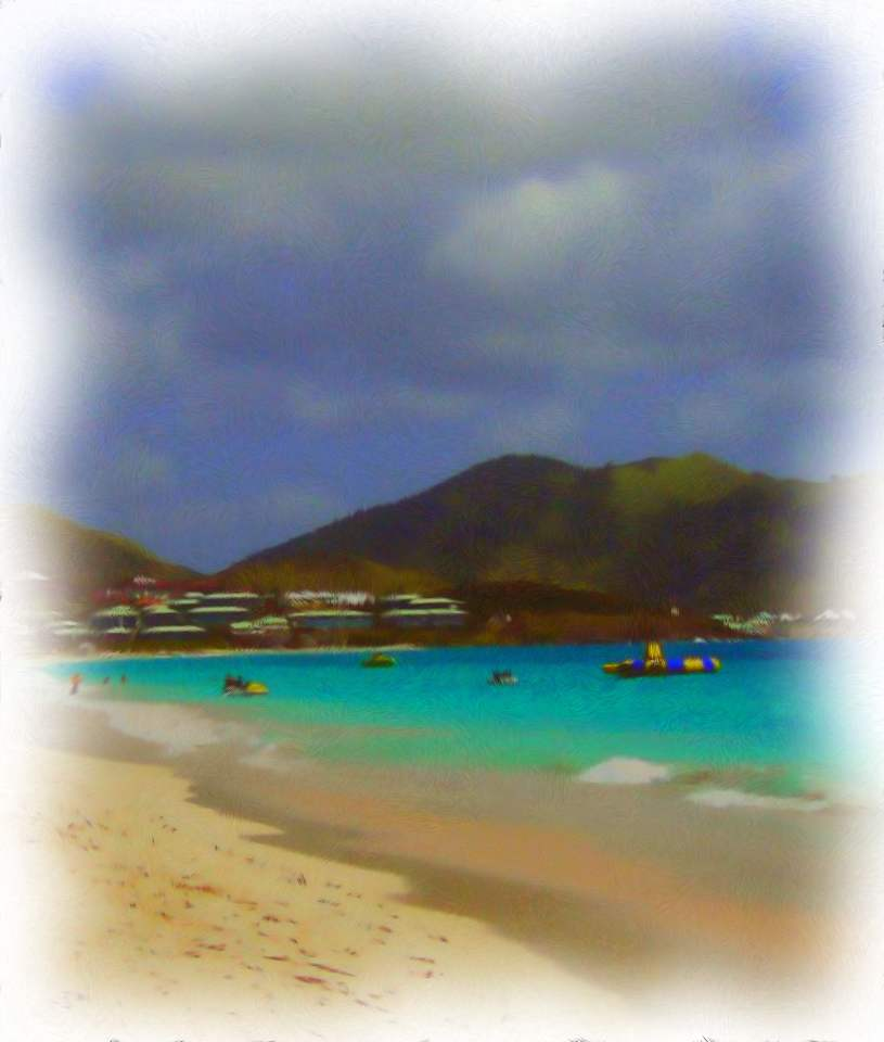 Vacation Fun At Orient Beach In St Martin Painting