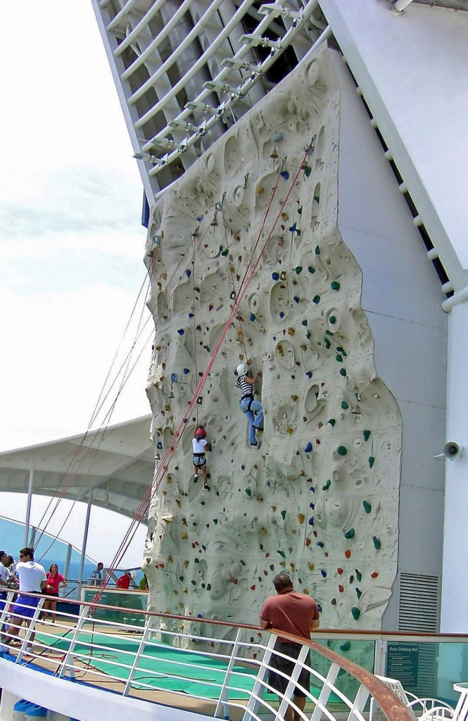 Wall Climbing On Cruise Ship