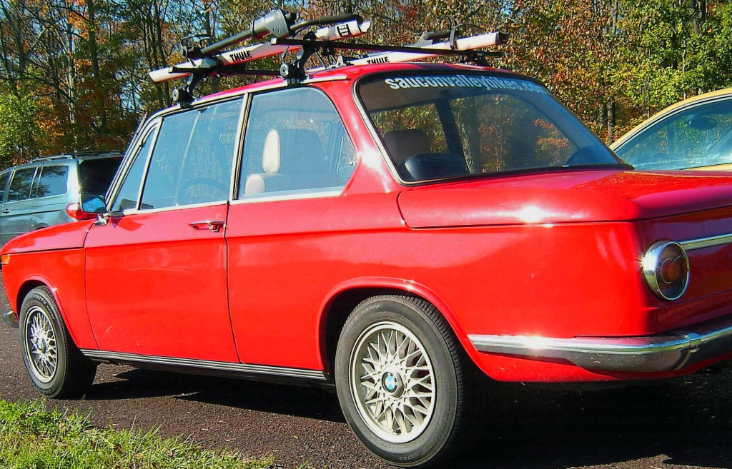 DRIVER SIDE OF CLASSIC 1969 BMW 2002 SEDAN