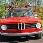 FRONT VIEW & GRILLE-OF CLASSIC 69 BMW 2002 SEDAN
