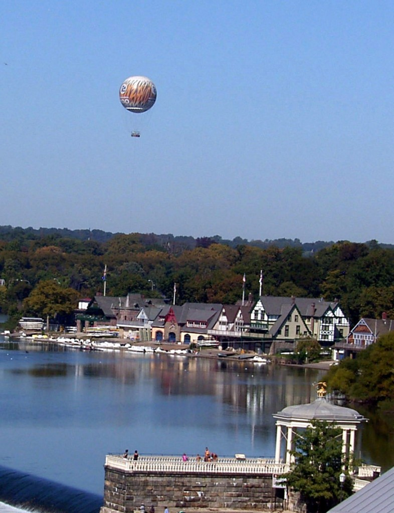 PHILADELPHIA ZOO BALLOON HOVERING OVER SCHUYLKILL