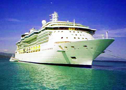 CRUISE SHIP ANCHORED IN HAITI