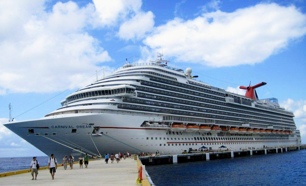 CRUISE SHIP DOCKED IN COZUMEL