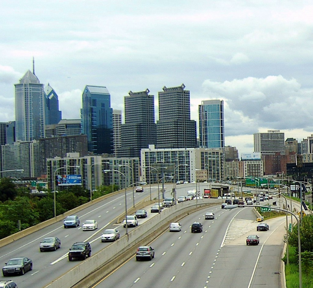 EXPRESSWAY EXIT INTO CENTER CITY PHILADELPHIA