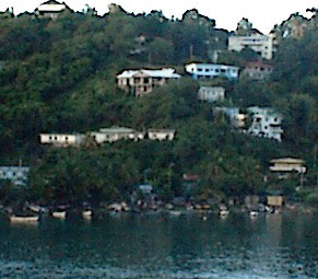 HILLSIDE HOUSES & BOATS AT ST JOHNS HARBOR