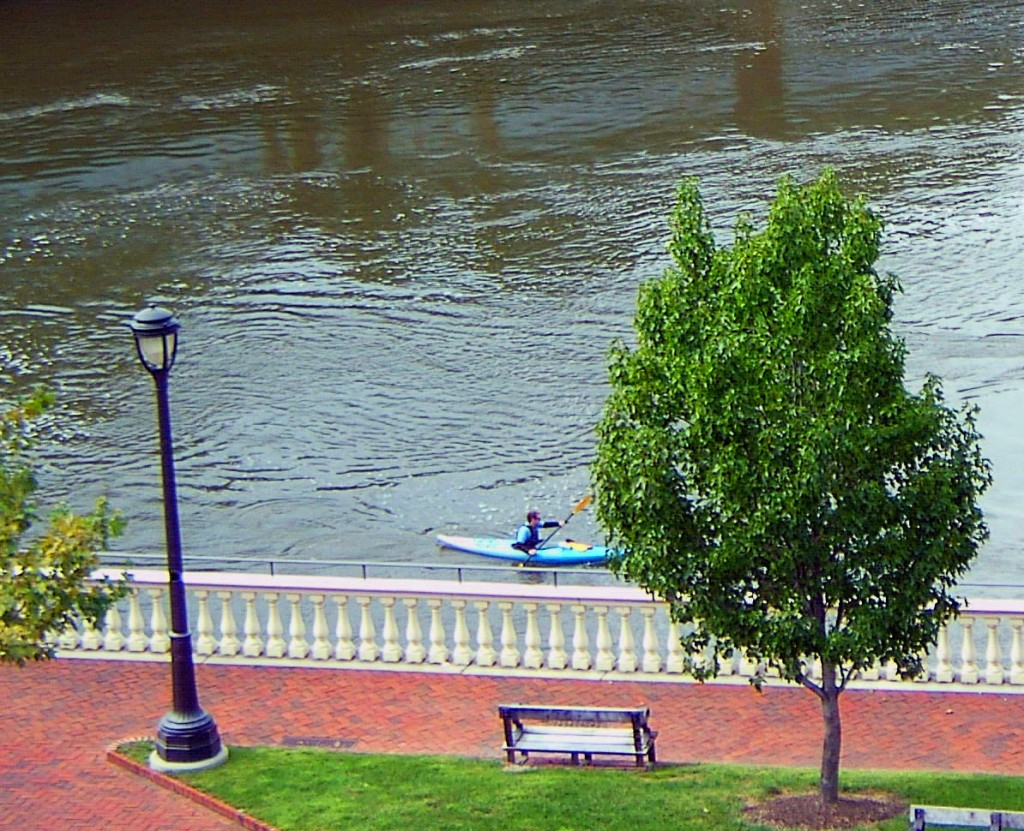 KAYAKING PAST PHILADELPHIA WATER WORKS PARK