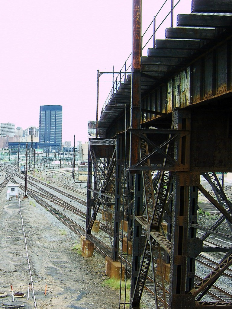 OLD TRAIN TRESTLE OVER PHILLY RAIL YARD