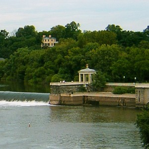 PHILADELPHIA WATER WORKS GAZEBO AT SCHUYLKILL RIVER FALLS