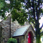 PICTURESQUE ENTRANCE TO LUTHERAN CHURCH
