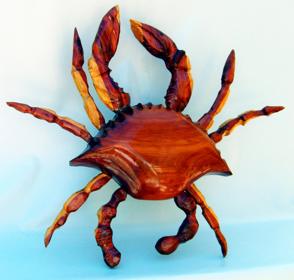 2 Foot Cedar Crab Wall Decor